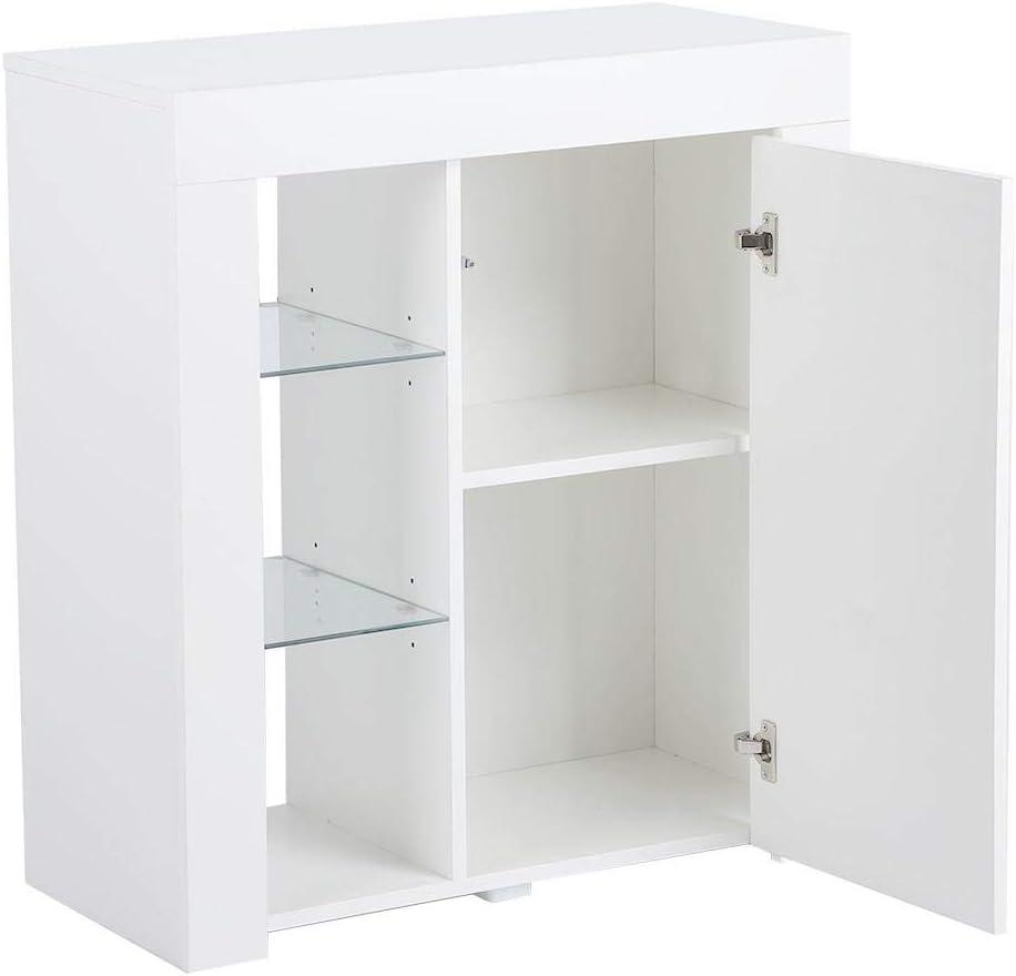 50 * 35 * 70cm Bianco per Bagno Cucina Camera da Letto Ufficio GOTOTOP Armadietto Moderno in Legno Mobiletto Base per Bagno o Ingresso Mobile Autoportante per Il Bagno credenza con 5 cassetto