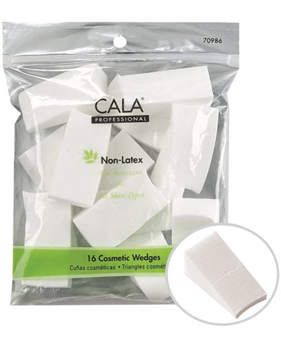 Cala Beauty 16 pc Professional Artist Studio Quality Makeup Wedges Sponges Non-Latex Oil Resistant for All Skin Types by Cala