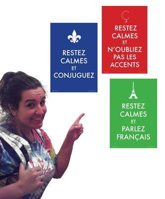 Keep Calm French 3 Mini-Poster Set