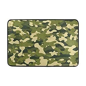 ALAZA Vintage camuflaje militar Felpudo Alfombrilla de interior al aire libre Entrada Suelo baño 23,6x 15,7pulgadas