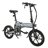 FIIDO Folding Electric Bike Aluminum 16 inch Fold E-Bike 250 W Motor Adult Sporting Bicycle Electric 36V 7.8AH Speed Bike Folding Outdoor Waterproof Bike