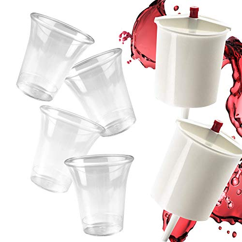 600 Communion Cups with Two Wine Cup Fillers - Church Supplies - Fits Service Tray - 12 Oz Wine Dispensers - Convenient Time Saver