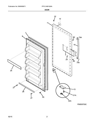 Frigidaire 5304506126 Freezer Door Gasket Genuine Original Equipment Manufacturer (OEM) part for Frigidaire, Kenmore, Crosley, White-Westinghouse
