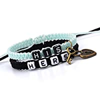 Couple Bracelets-Morenitor[TM] Handmade Key and Lock Braided Bracelet His and Hers Jewelry Set for Lover.