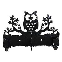 HeavenlyKraft Wall Mounted Coat Hook Steel Owl on Maple Tree Wall Mounted Coat Rack/Coat Hanger/Coat Hook/Decorative Metal Hook/Towel Hanger/Bathroom Hanger/Kitchen Towel Hanger