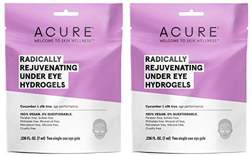 Performance Hydrogel - Acure Organics Radically Rejuvenating Under Eye Hydrogel Mask (Pack of 2) With Cucumber and Silk Tree, For Age Performance, .236 fl. oz.