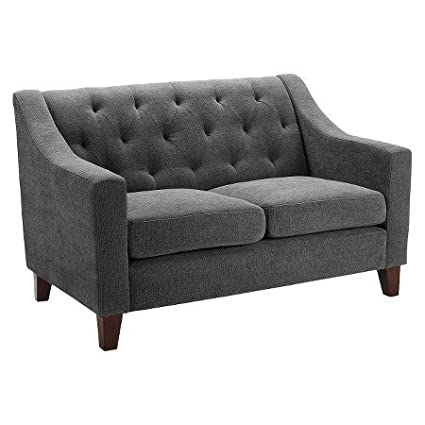 Amazon Com Felton Tufted Loveseat Threshold Gray