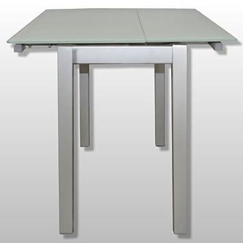 Deikea.Com - Cocina mesa extensible cristal templado, medidas 90 x ...