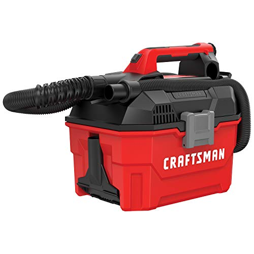 CRAFTSMAN V20 Cordless Shop Vac, 2 Gallon, Wet/Dry, Tool Only (CMCV002B)