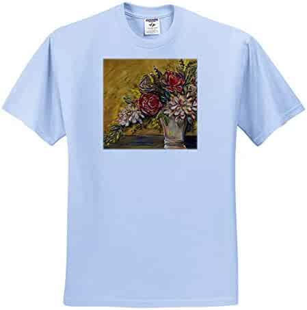 ts/_319906 Quotes Bee Kind Painting 3dRose Amanda Levermann Adult T-Shirt XL