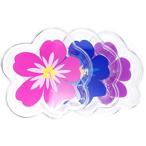 Food Serving (6 ct Plastic Luau Hibiscus Tray) (Plastic Hibiscus Tray)