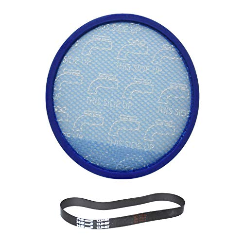 TVP Fit to Design Hoover Hoover Model UH72600 WindTunnel Max Mult-Cyclonic Bagless Upright Washable Primary Blue Sponge Filter With One Rewind Plus/MS.12.8X457 Belt (Replacement Primary Belts)