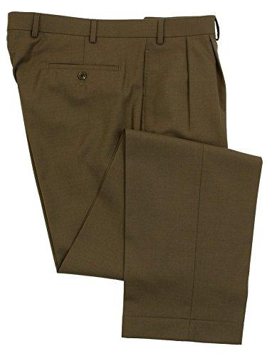 Ralph Lauren Mens Double Pleated Light Brown Wool Dress Pants - Size 34 x29