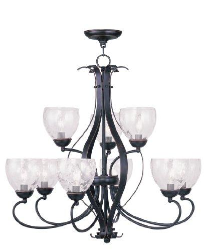 Livex Lighting 4809-67 Brookside 9-Light Chandelier, Olde Bronze -