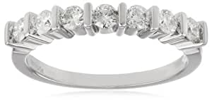 Women's 14k White Gold Diamond Anniversary Ring (1/2 cttw H-I Color, I1-I2 Clarity), Size 5