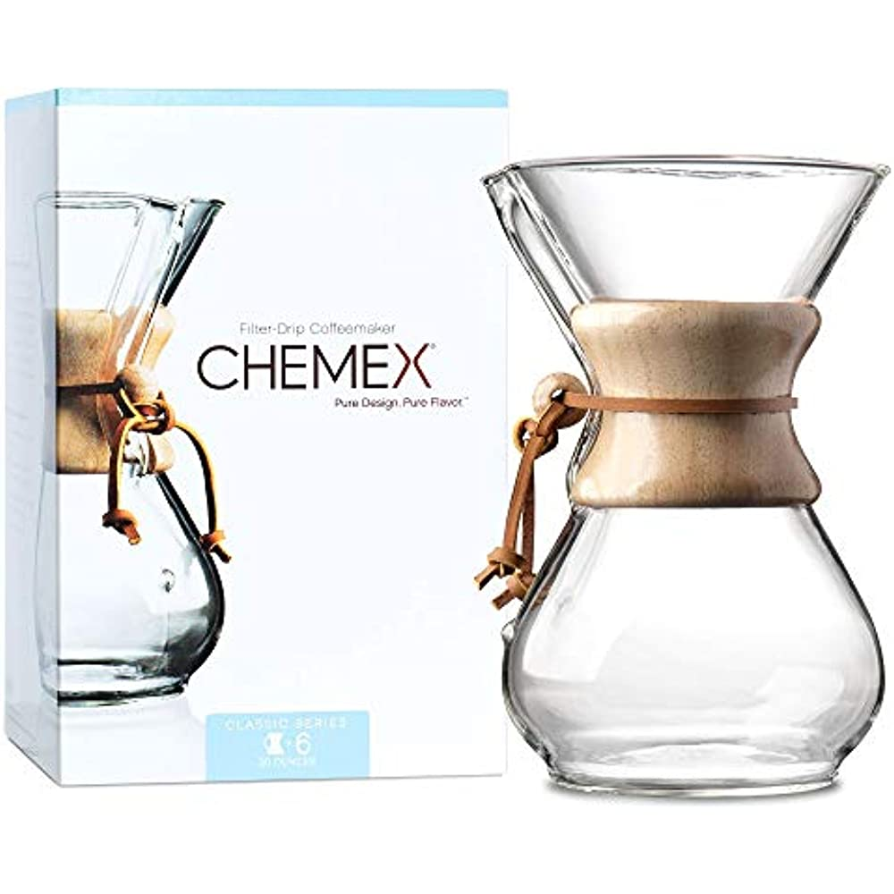 Chemex Glass Handle Pour-over Coffeemaker Exclusive Packaging 6-Cup
