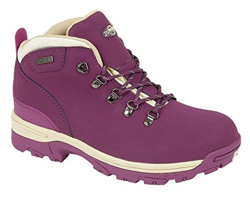 NorthWest Womens Walking Leather Purple WaterProof Hiking Up Lace Trek Boots r5OxUqwr
