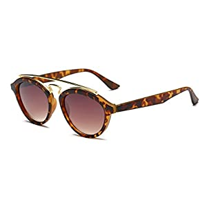 G&T European Unique Style Personality Lady Colorful Lens Wayfarer Sunglasses(C8)