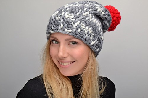 Women's Crochet Hat With Pompon by MadeHeart | Buy handmade goods