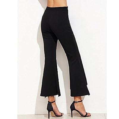 Vickyleb Women Pants Flare Dance Pants Women's High Elastic Waist Bell-Bottom Pant Skinny Yoga Trousers Leggings at  Women's Clothing store