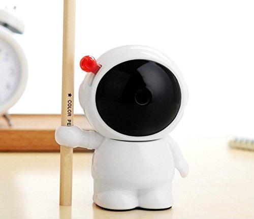 - Zhahender Carton Style Astronaut Pattern Pencil Sharpener Hand Crank Manual Desktop School Stationery for Child Student Study