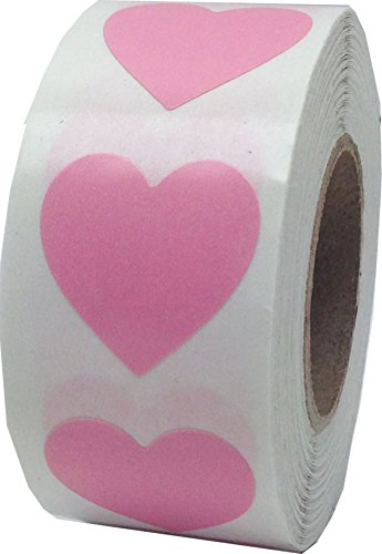 (Pink Heart Stickers for Valentine's Day Crafting Scrapbooking 3/4 Inch 500 Adhesive Stickers)