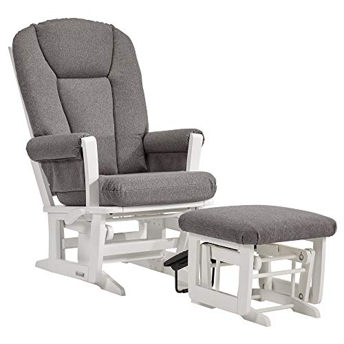 Dutailier Modern 0410 Glider Multiposition-Lock Recline with Nursing Ottoman Included ()