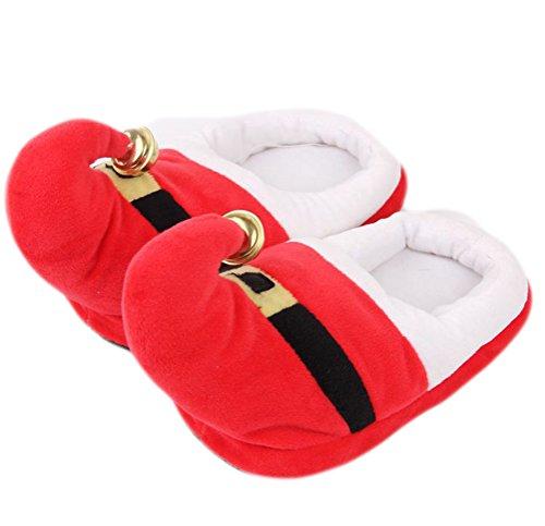 Le Di Rosso Cappello Stivaletti Caviglia Uomo Auspicious Festival Pantofole Vacanze Winter Caldo Alla Unisex Per Donna Beginning Natale zpYqT