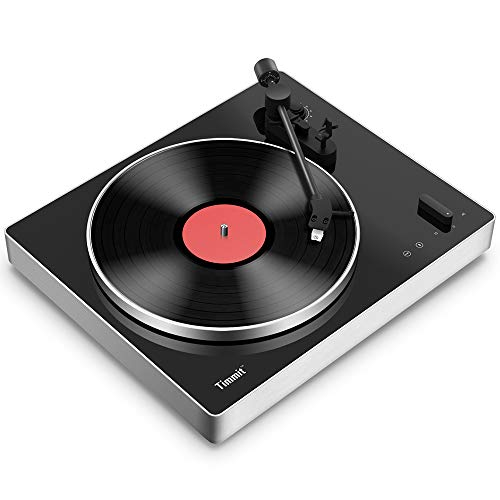 Bluetooth Stereo Turntable, Belt - Drive Vinyl Player Turntable Record Player Analog HiFi Turntable, Supports USB to PC/Mac Recording, Pitch Control, RCA Output, Adjustable Counterweight