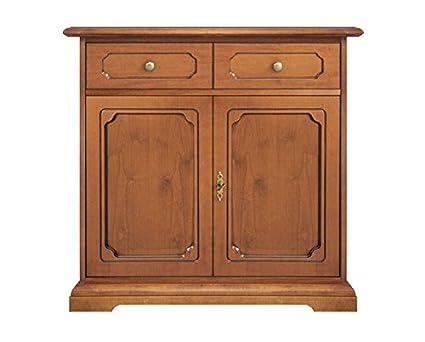 Credenza Arte Povera Ciliegio : Credenza classica in legno porte arredamento cucina sala da