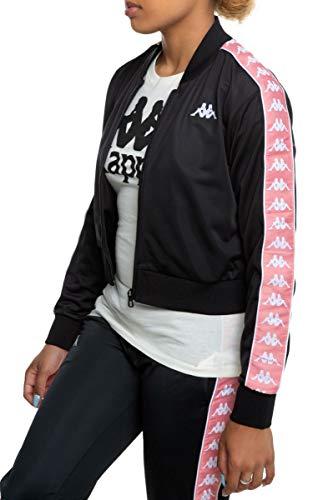 Kappa Womens 222 Banda Asber Jacket - Black/Pink/White - SM
