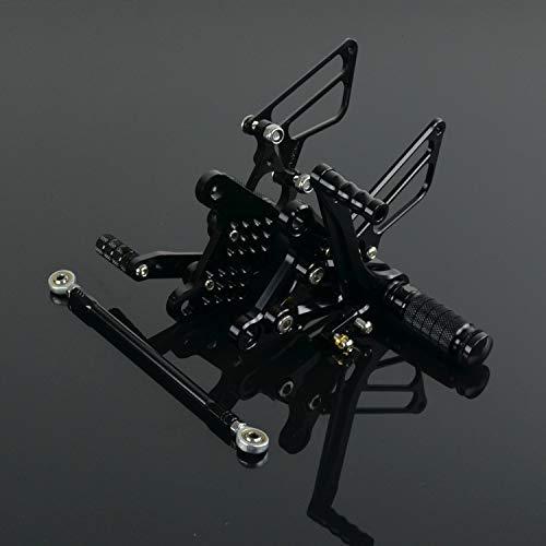 JFG RACING Motorcycle Rearsets CNC Adjustable Rear Foot Pegs Footrest For Kawasaki Ninja ZX6R ZX636 2009-2017, Green