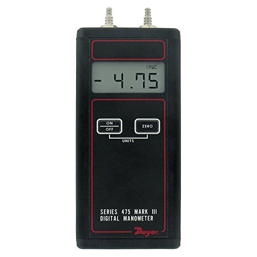 Dwyer Differential Pressure Digital Manometer Handheld, 475-00-FM, FM Approved, 0-4.0