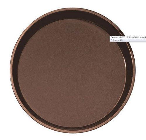 (Cambro Manufacturing PT1600110 Polytread Tray Round Black 16'' (1 EACH))