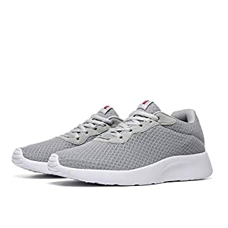 MAlITRIP Jogging Shoes for Men Athletic Fashion Sneakers Jog Athletic Sport Tennis Gym Workout Fitness Training Light Grey Gray Size 14