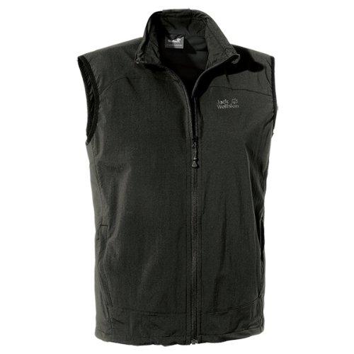 Jack Wolfskin Herren Softshellweste Activate Vest, Black, XL, 1302331-6000005