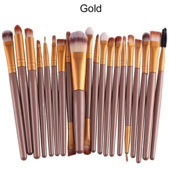 ef86b6a1f Set 20 Brochas Profesionales Maquillaje (Set Dorado): Amazon.com.mx ...