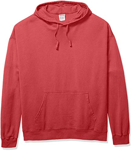 (Hanes Men's ComfortWash Garment Dyed Fleece Hoodie Sweatshirt, Crimson Fall 3X Large)