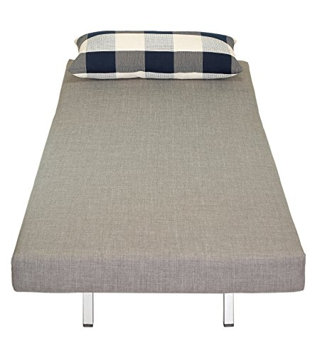 Pleasing Cortesi Home Savion Convertible Accent Chair Bed Grey Buy Dailytribune Chair Design For Home Dailytribuneorg