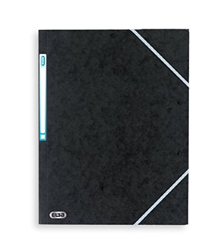 (Elba Top File Elasticated Folder A4 with Flap Pack of 50 Black )