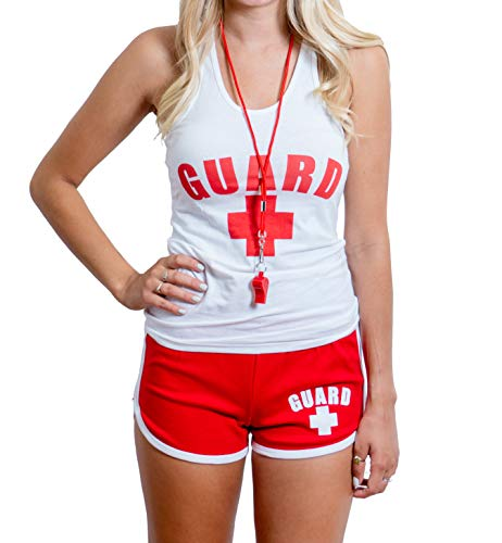 BLARIX Womens Lifeguard Racerback Outfit (Small, White) -