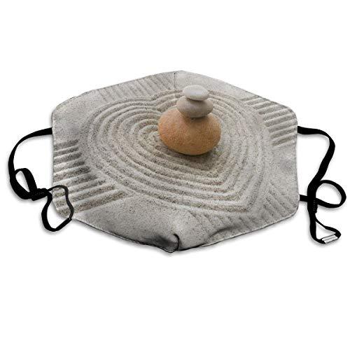 Anti Allergy Flu Dust Face Mask, Earloop Half Face Mask for Women Men, Cycling Skate Respirator with Adjustable Elastic Band - Asian Zen Garden Stone Sand Zen, Dental Mask]()