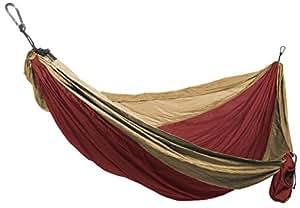 Grand Trunk doble paracaídas hamaca carmesí / de color caqui, un tamaño