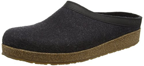 Haflinger Unisex GZL Leather Trim Grizzly Clog Charcoal discount geniue stockist for sale cheap authentic sale newest many kinds of cheap price clearance new styles rRcnaTQw