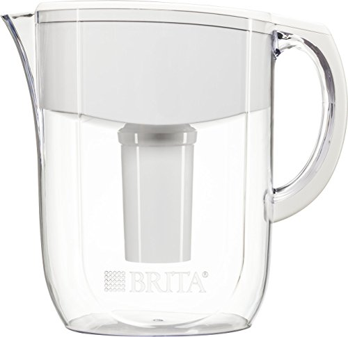 Brita 10 Cup Everyday BPA Free Water Pitcher with 1 Filter, White Plus Brita Advanced Replacement Water Filter for Pitchers, 3 Count Bundle