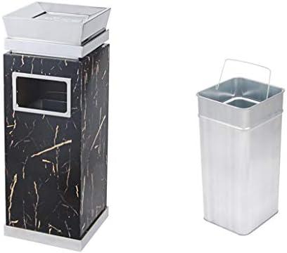 キッチンゴミ箱 縦型灰皿ゴミ箱吸い殻レセプタクル - タバコの処分タワー - コマーシャル灰皿 - ブラック ごみ収集