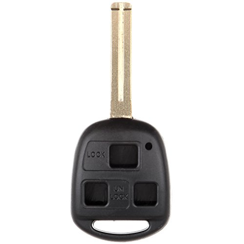 ECCPP Replacement for 1X 3 Buttons Replacement Uncut Keyless Entry Remote Control Car Key Fob Shell Case for Lexus Series HYQ1512 HYQ12BBT HYQ1288T