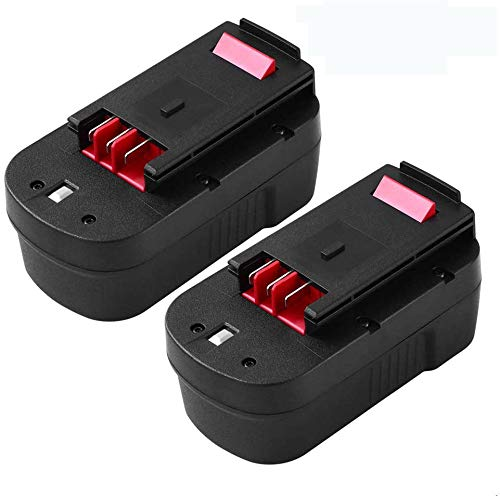 Upgraded 3600mAh HPB18 for Black and Decker 18v Battery Replacement for HPB18 HPB18-OPE 244760-00 A1718 A18 FS18FL FSB18 FEB180S Firestorm 18 Volt Cordless Power Tool Batteries 2-Packs
