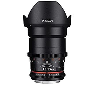 Rokinon Cine DS DS35M-C 35mm T1.5 AS IF UMC Full Frame Cine Wide Angle Lens for Canon EF (B00MZCCDHE) | Amazon Products