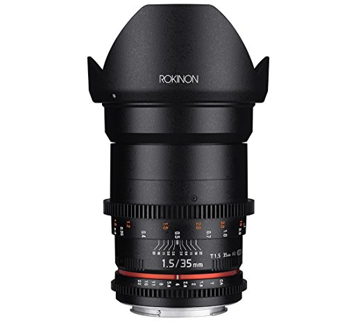 Rokinon Cine DS DS35M-MFT 35mm T1.5 AS IF UMC Full Frame Cine Wide Angle Lens for Olympus and Panasonic Micro Four Thirds